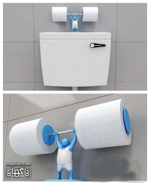 عکس از جا دستمال توالت خلاقانه