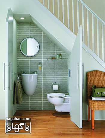 طراحی متفاوت و کاربردی راه پله های داخلیبا استفاده از فضای پرت زیر راه پله