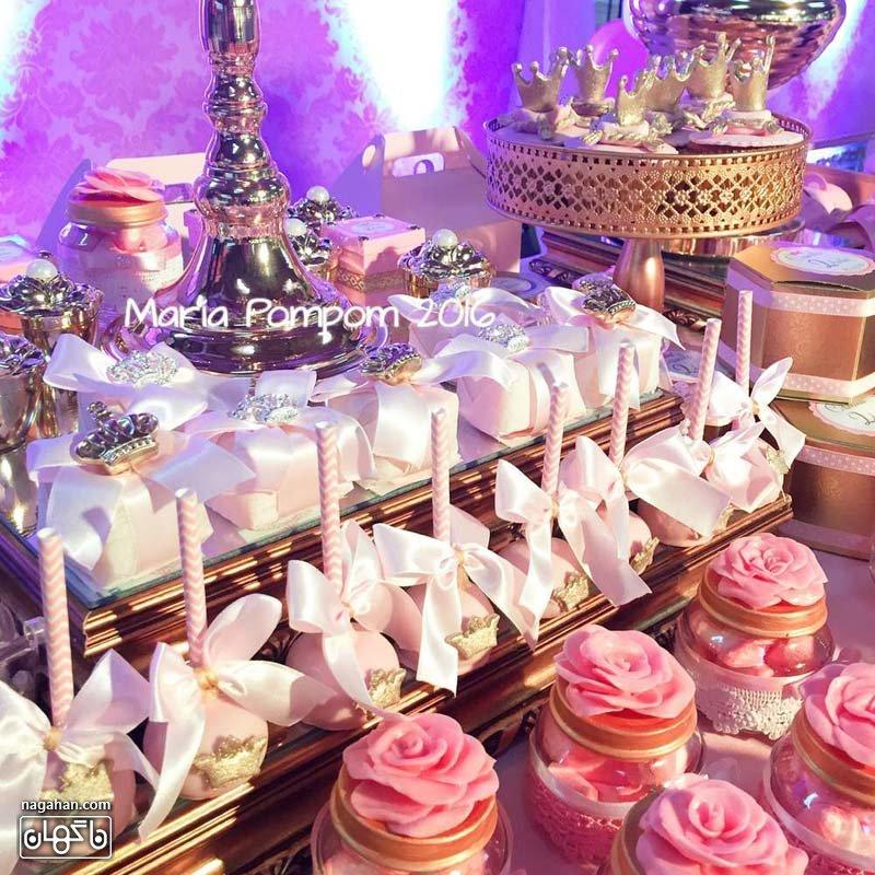 کاپ کیک های مخصوص تم تولد پرنسس