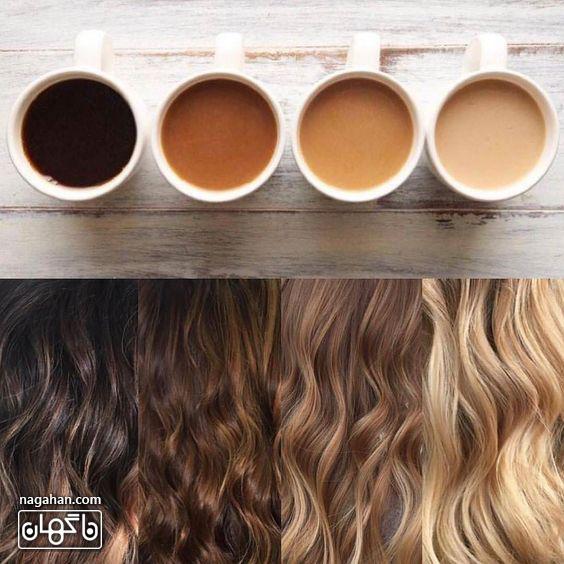 ترکیب انواع رنگ مو