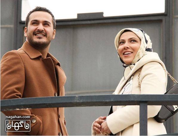 میلادکیمرام و لیلااوتادی در نمایی از اپیزود «کامران» از مجموعه تلویزیونی چرخ وفلک